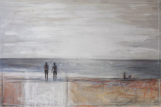 """Am Meer"" mixed media, canvas, 120 x 80 cm ...mrs more (stefanie ramsel)"