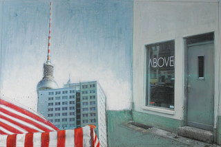 "Mrs More ""ABOVE-Berlin"" mixed media, canvas, 120 x 80 cm"